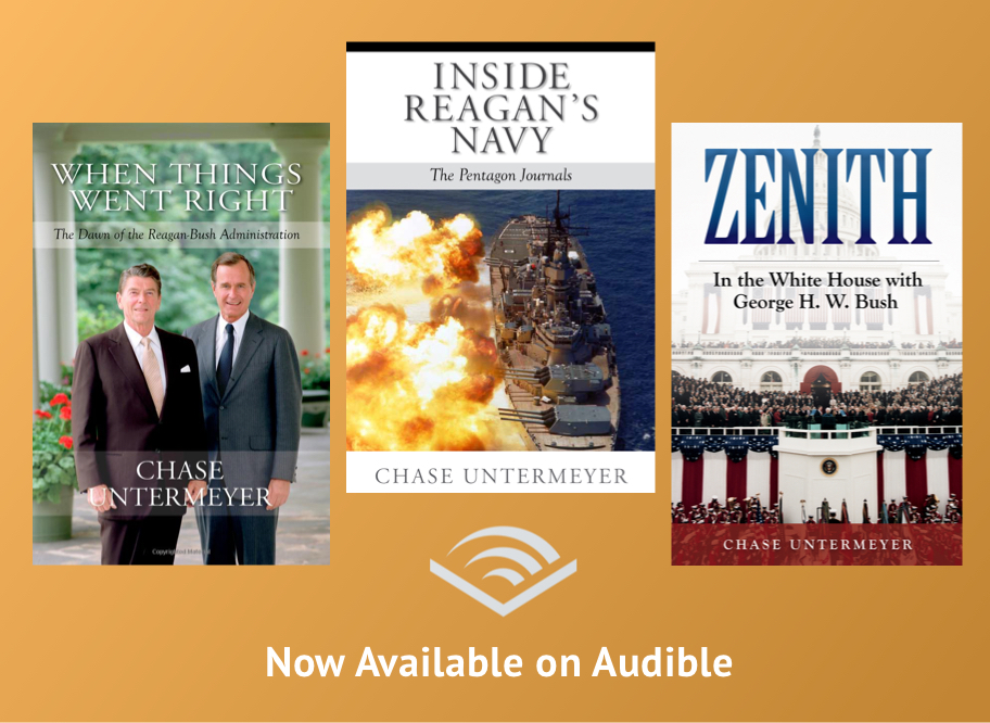When Things Went Right, Inside Reagan's Navy, and Zenith are all available as audiobooks on Audible